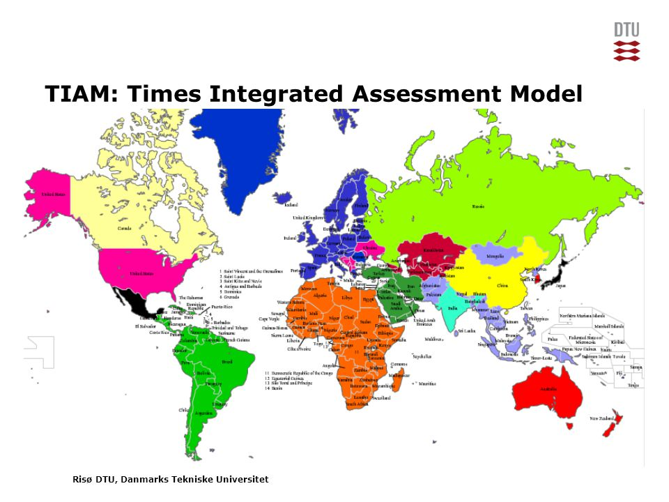 Risø DTU, Danmarks Tekniske Universitet TIAM: Times Integrated Assessment Model