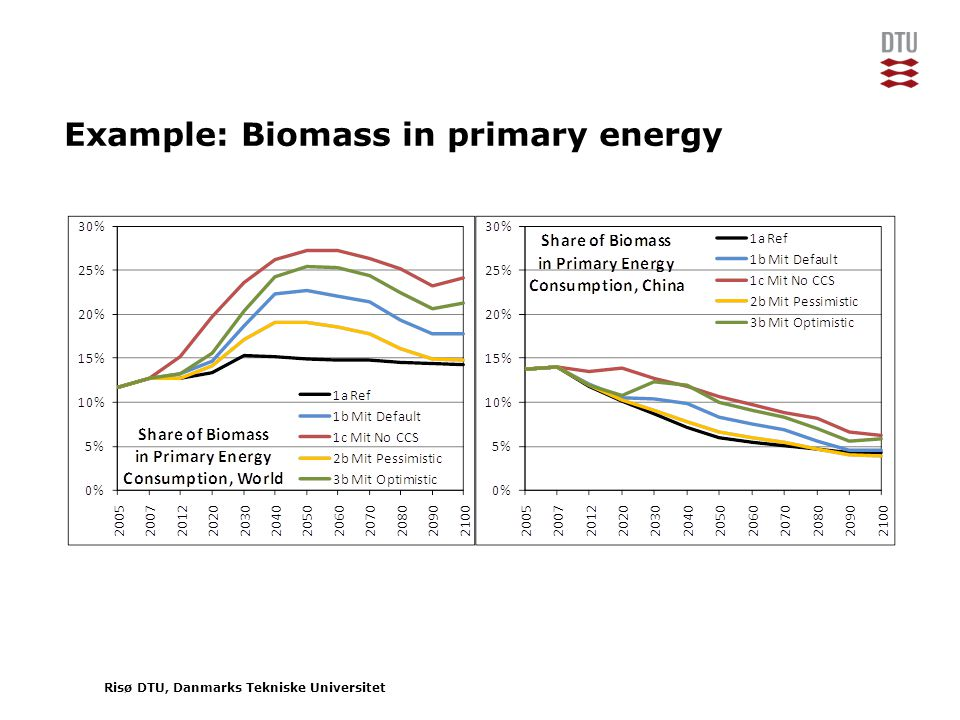 Risø DTU, Danmarks Tekniske Universitet Example: Biomass in primary energy