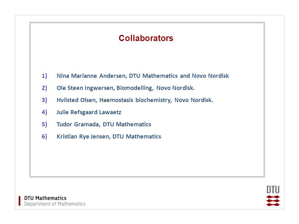 Collaborators 1)Nina Marianne Andersen, DTU Mathematics and Novo Nordisk 2)Ole Steen Ingwersen, Biomodelling, Novo Nordisk.