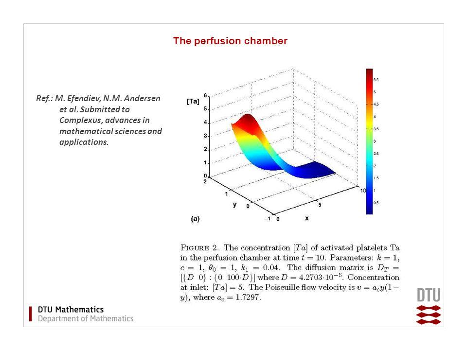 The perfusion chamber Ref.: M. Efendiev, N.M. Andersen et al.