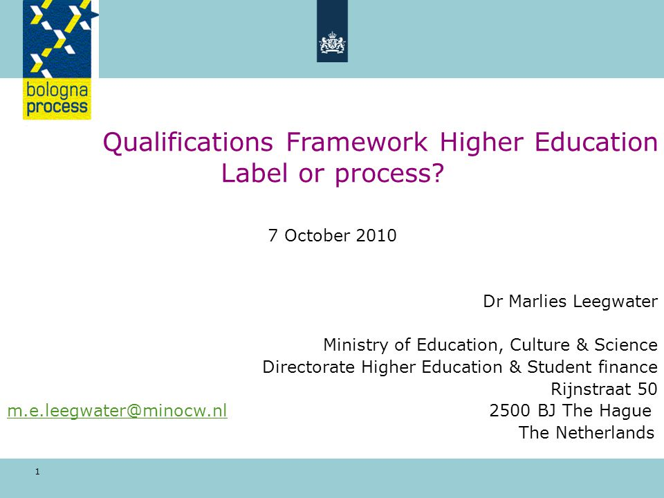Self-certification of the Dutch National Qualifications Framework