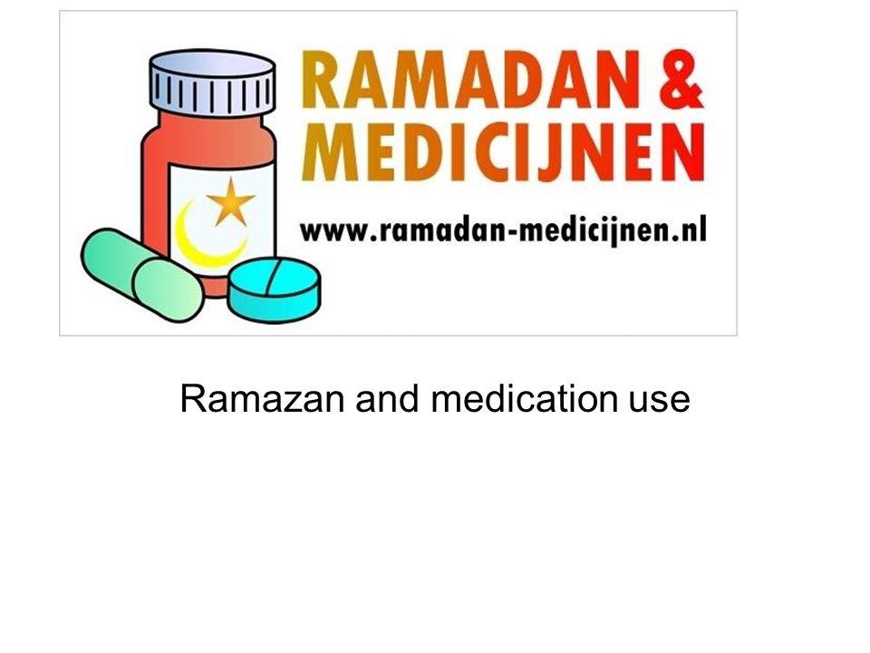 Ramazan and medication use