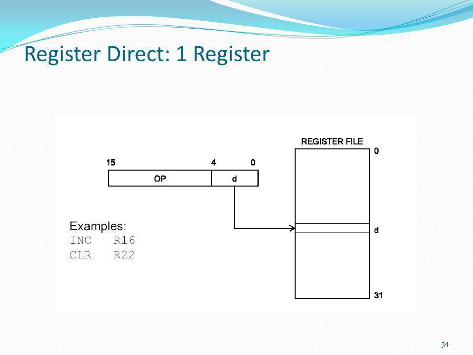 Register Direct: 1 Register 34