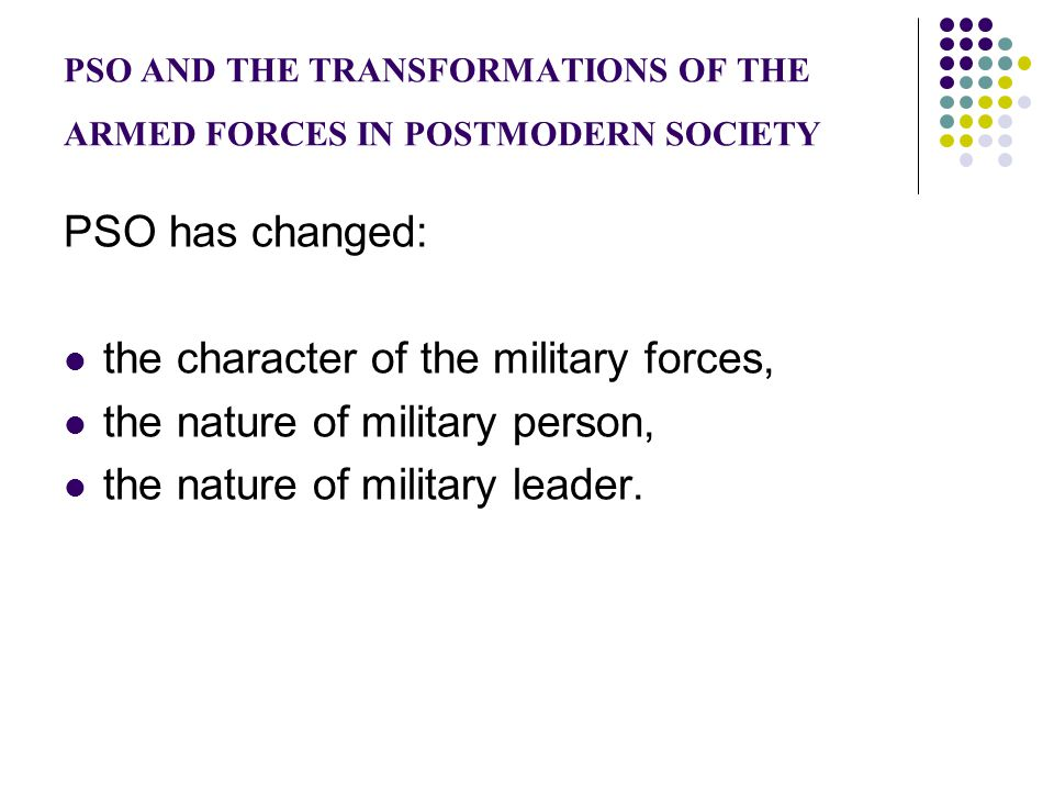 Armed Forces in the Three Eras C.C.