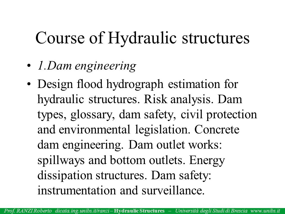 2.Other hydraulic structures River engineering.Diversion works.