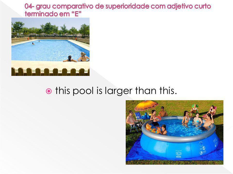  this pool is larger than this.