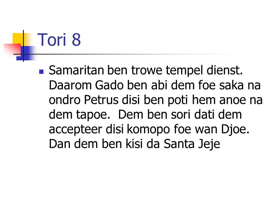Tori 8 Samaritan ben trowe tempel dienst.