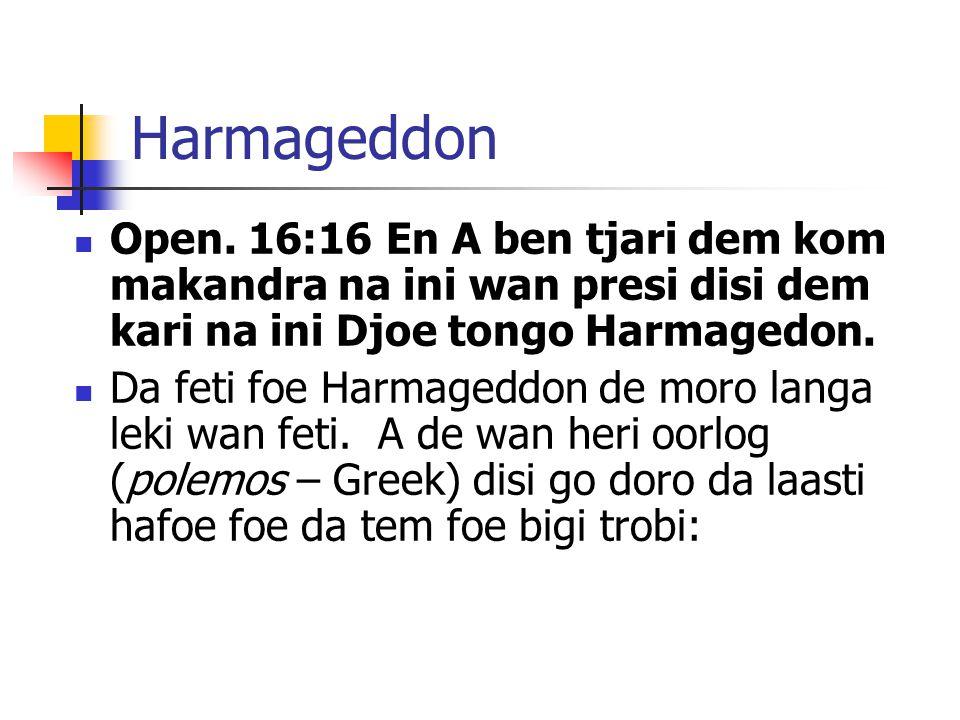 Harmageddon Open.
