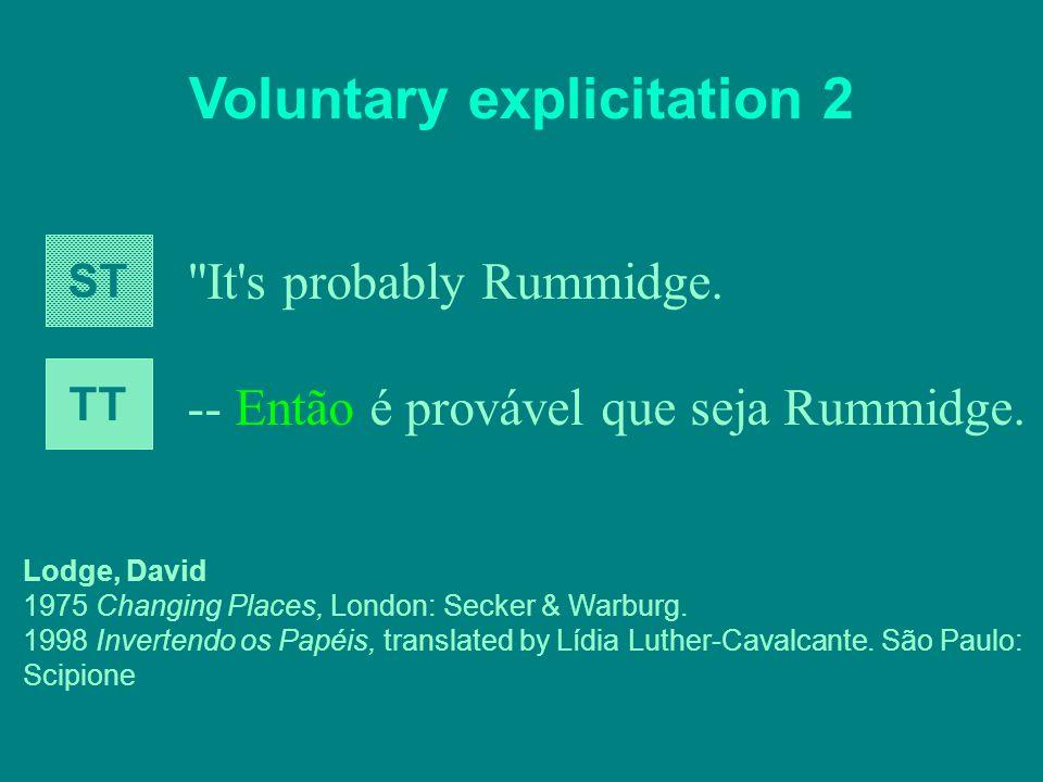 Voluntary explicitation 2