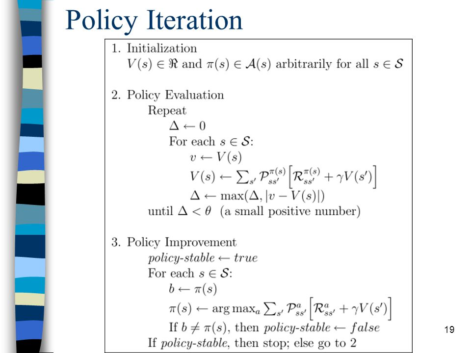 19 Policy Iteration