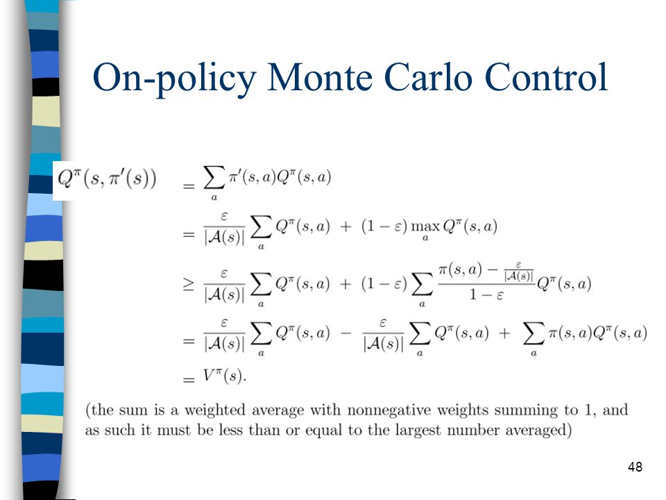 48 On-policy Monte Carlo Control