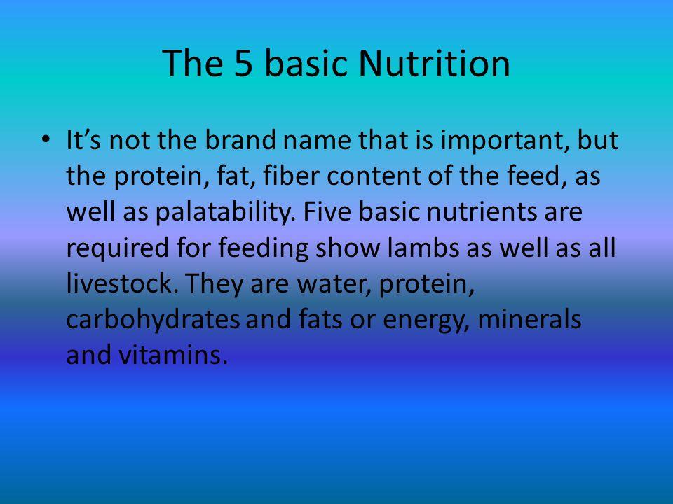 The different feeds Lamb DeveloperTextured Lamb (Grower)
