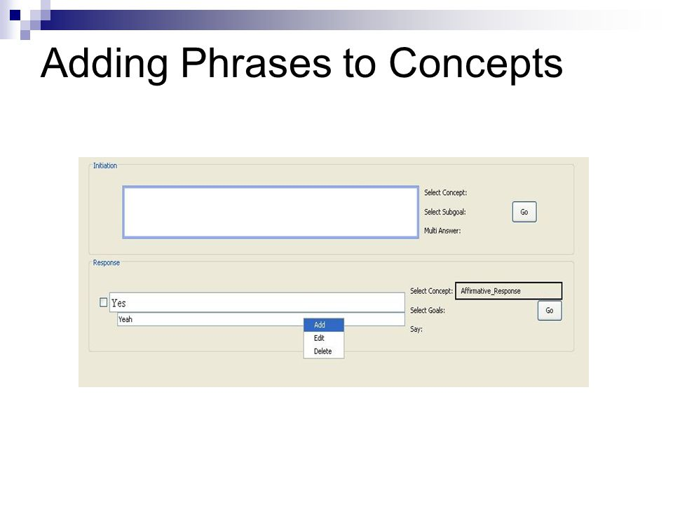 Adding Phrases to Concepts
