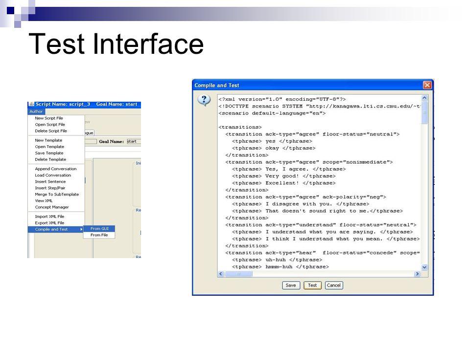 Test Interface