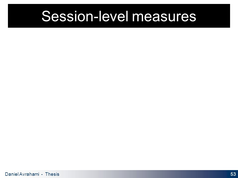 53 Daniel Avrahami - Thesis Proposal Session-level measures