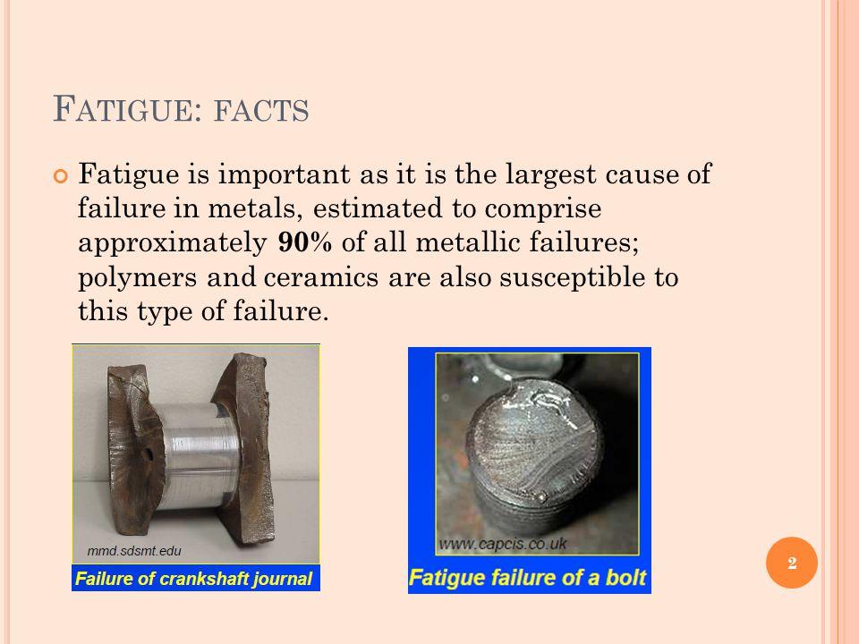E NDURANCE L IMITS Some materials exhibit endurance limits, i.e.