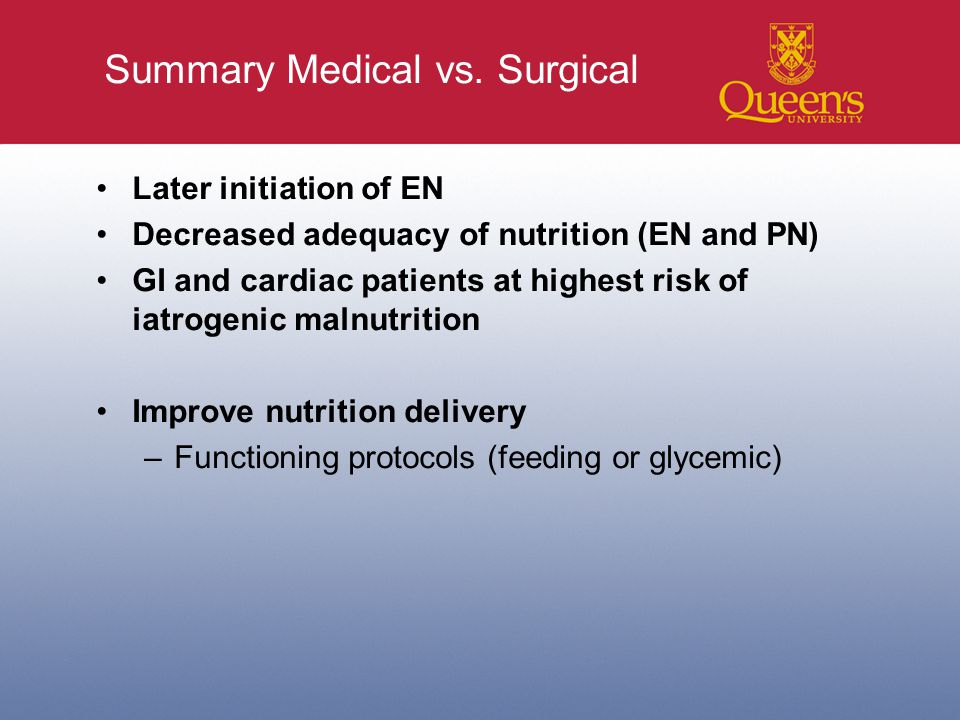 Summary Medical vs.