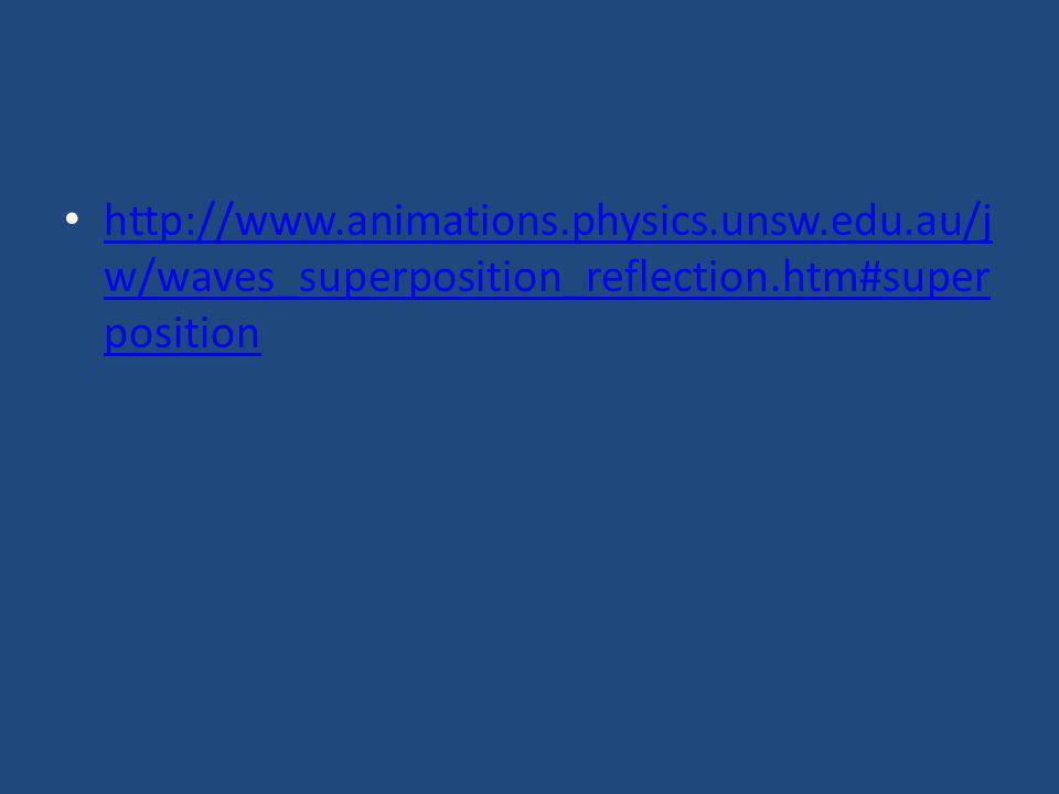http://www.animations.physics.unsw.edu.au/j w/waves_superposition_reflection.htm#super position http://www.animations.physics.unsw.edu.au/j w/waves_su