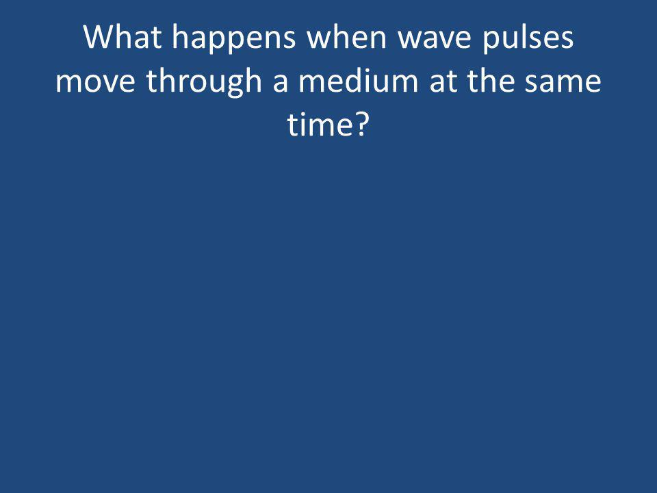 What happens when wave pulses move through a medium at the same time?