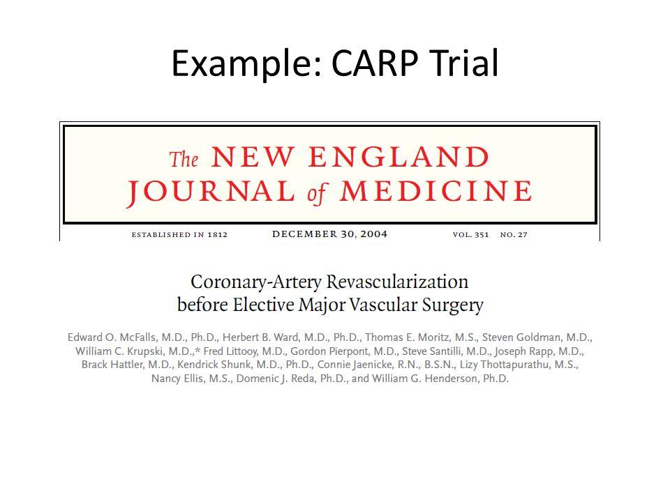 Example: CARP Trial