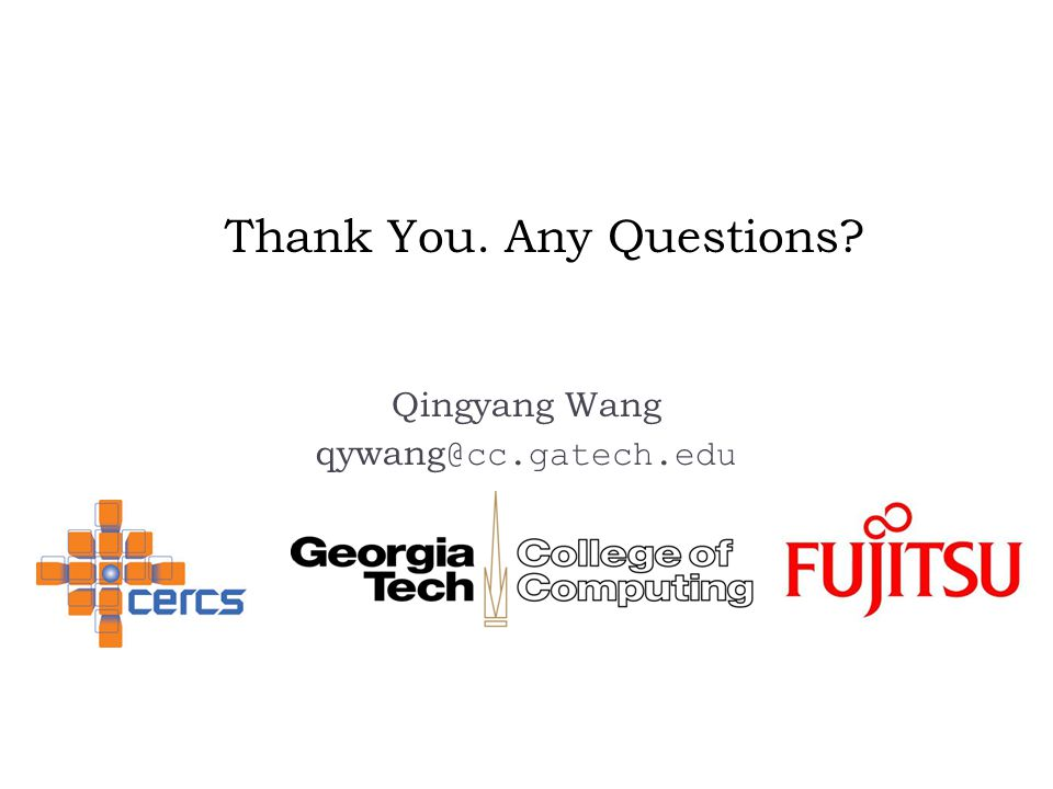 Thank You. Any Questions Qingyang Wang