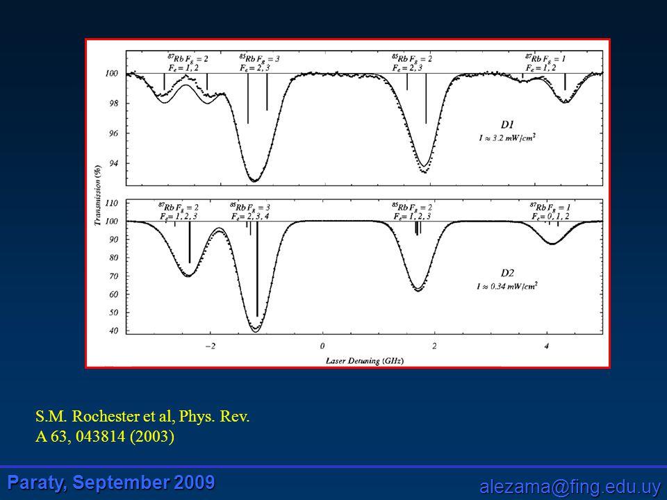 Paraty, September 2009 alezama@fing.edu.uy S.M. Rochester et al, Phys. Rev. A 63, 043814 (2003)