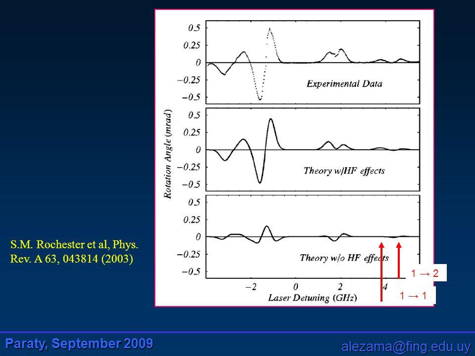 Paraty, September 2009 alezama@fing.edu.uy S.M. Rochester et al, Phys.