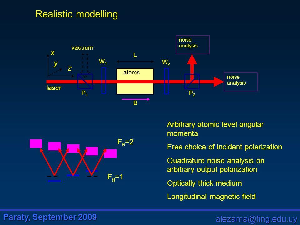 Paraty, September 2009 alezama@fing.edu.uy S.M.Rochester et al, Phys.