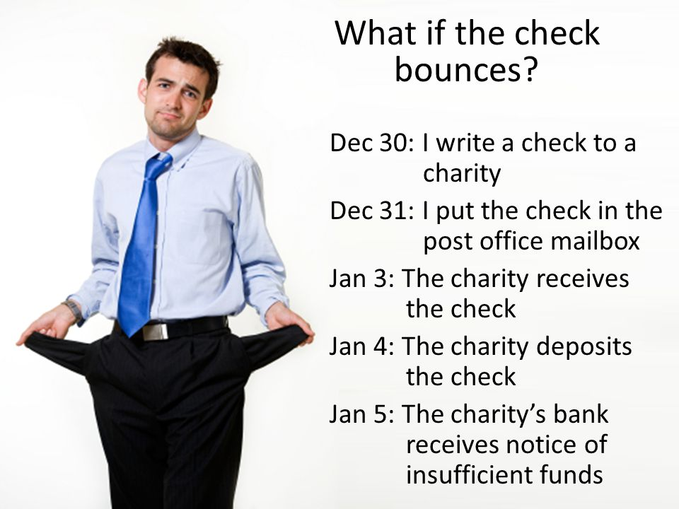 What if the check bounces.
