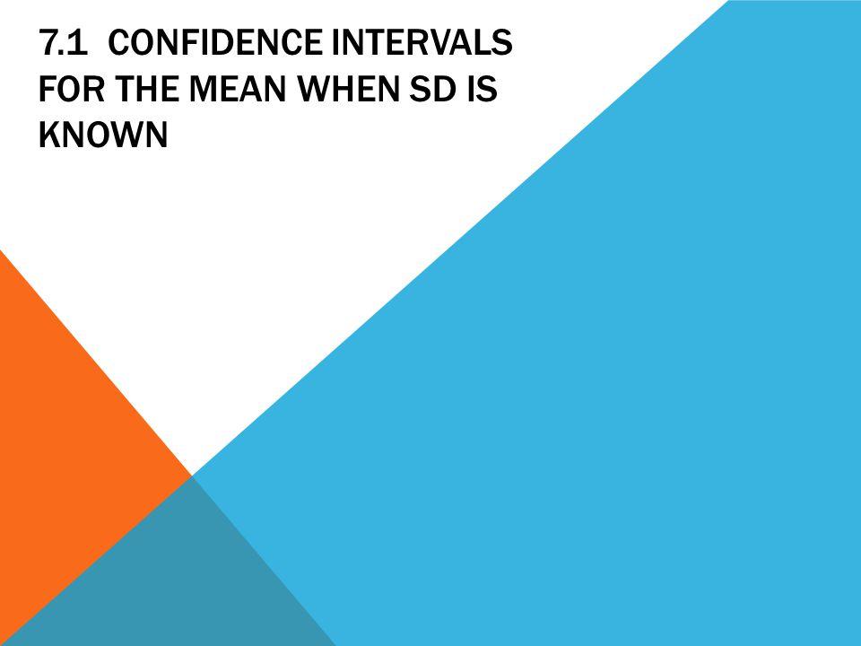 DETERMINING SAMPLE SIZE E = margin of error N = sample size σ = standard deviation depends on confidence interval