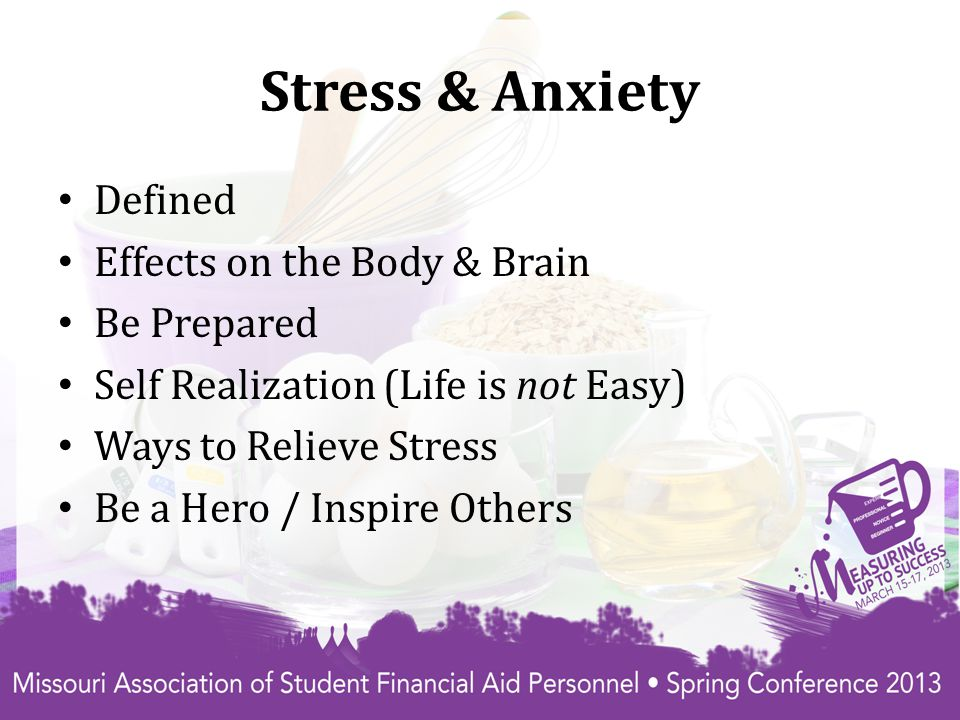 Defined Stress is defined as an organism s total response to environmental demands or pressures.