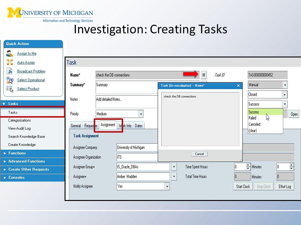 Investigation: Creating Tasks