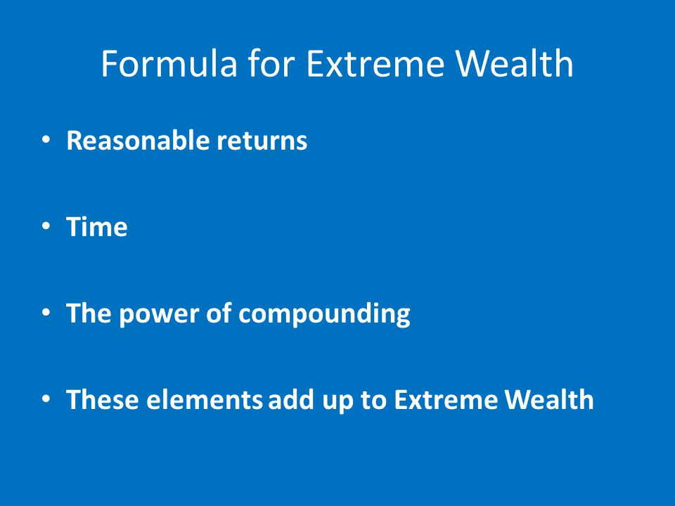 Reasonable Returns Require a complete plan Plan has every contingency thought out ahead of time Based on Risk Management –Not Entries Mental fortitude & psychology to follow the plan Gives the Potential for Reasonable returns over time