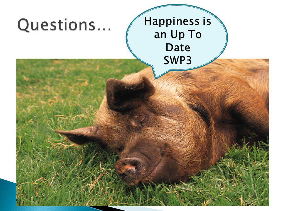 Happiness is an Up To Date SWP3