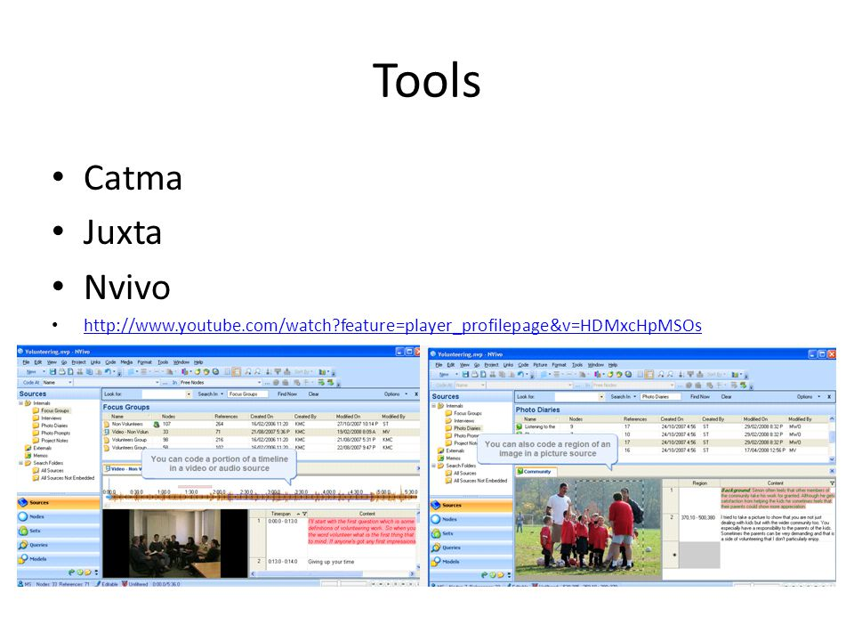 Tools Catma Juxta Nvivo   feature=player_profilepage&v=HDMxcHpMSOs