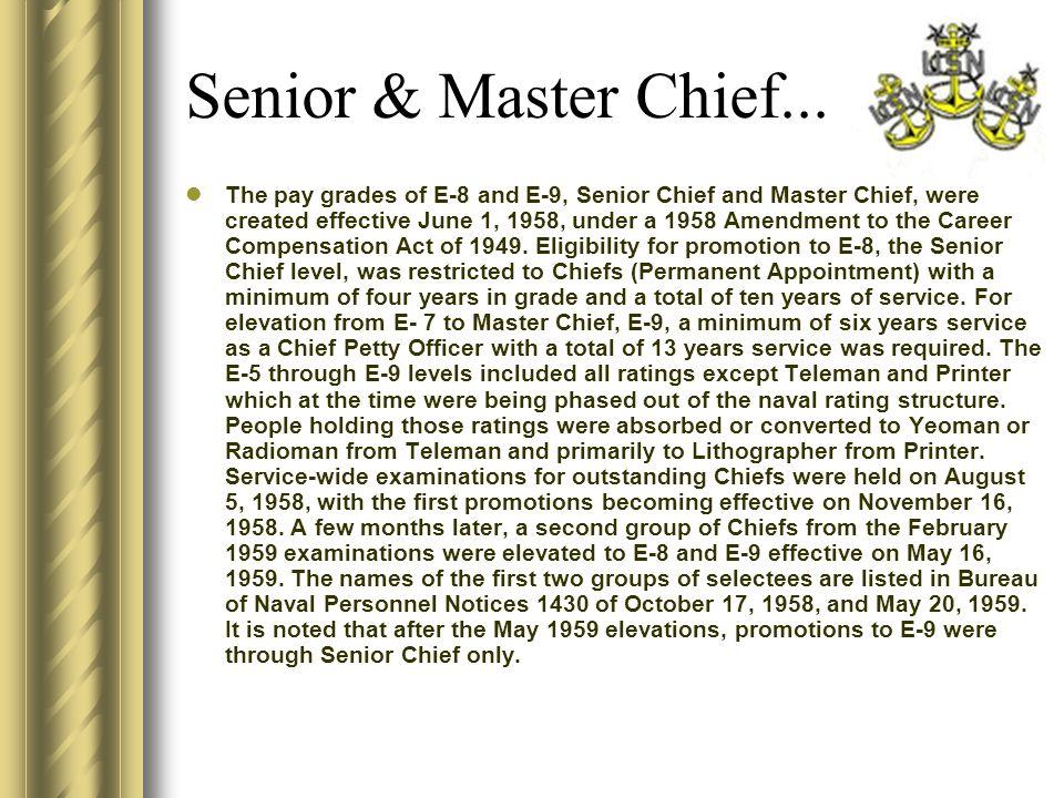 Senior & Master Chief...