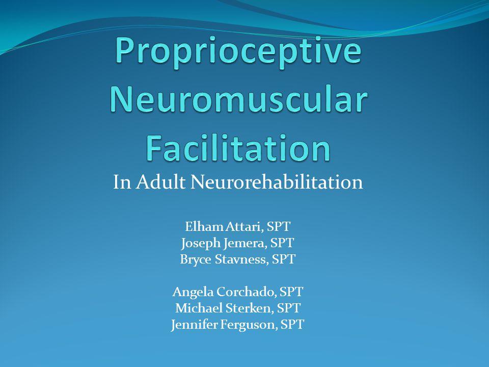 In Adult Neurorehabilitation Elham Attari, SPT Joseph Jemera, SPT Bryce Stavness, SPT Angela Corchado, SPT Michael Sterken, SPT Jennifer Ferguson, SPT
