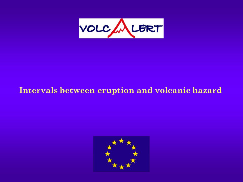 Intervals between eruption and volcanic hazard