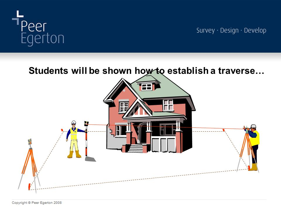 Students will be shown how to establish a traverse…