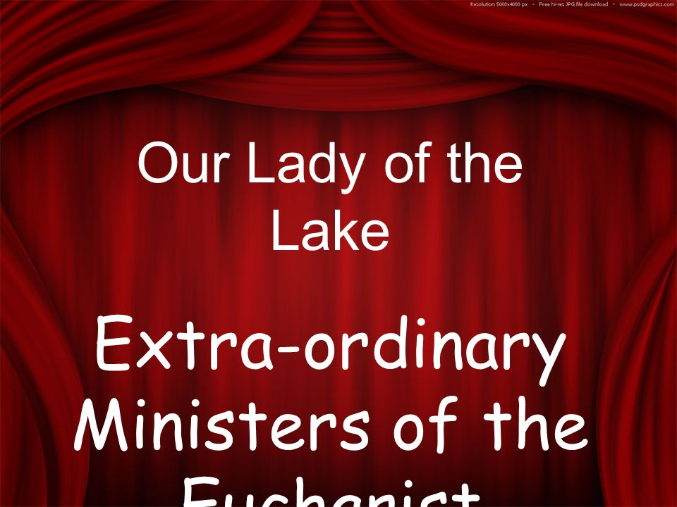 Our Lady of the Lake Extra-ordinary Ministers of the Eucharist