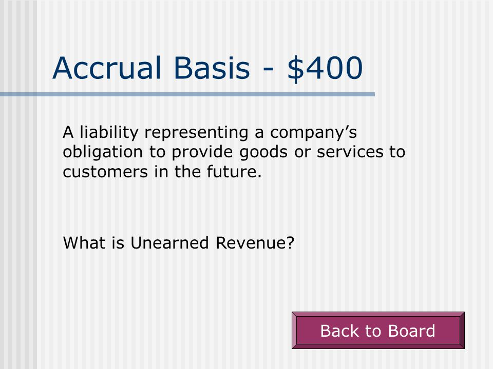 Accrual Basis - $300 The term used to describe what happens when economic benefits of an item are used up in the current period.