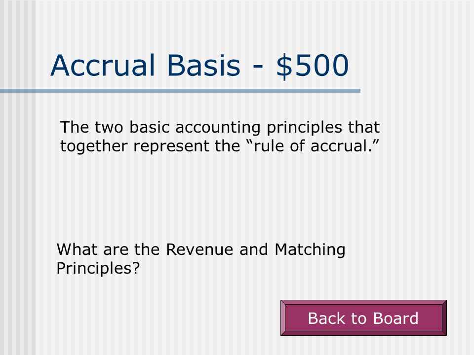 Accrual Basis - $400 A liability representing a company's obligation to provide goods or services to customers in the future.