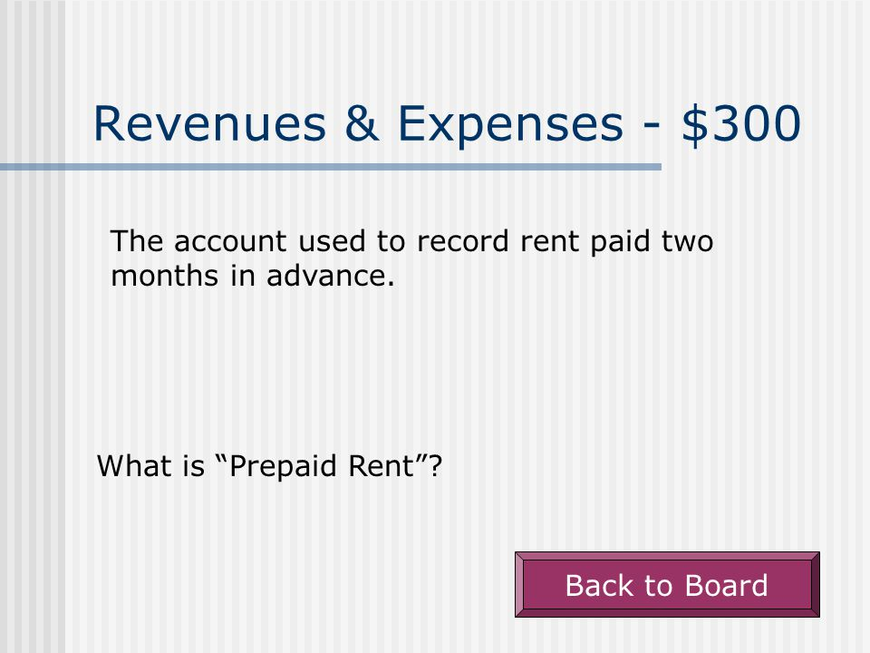 Revenues & Expenses - $200 The account used to record the cost of electrical services used during the current period.