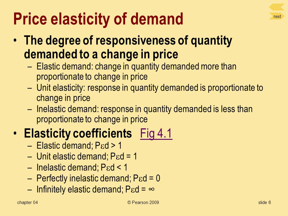 Part 2: The Price Mechanism Chapter 4: Elasticity and its Application