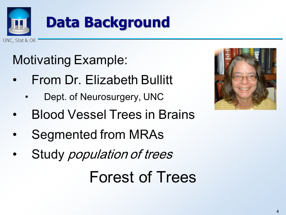 25 UNC, Stat & OR Example 1, Assume that we have three following tree data Tree 1 Tree 2 Tree 3