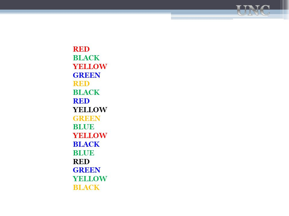 RED BLACK YELLOW GREEN RED BLACK RED YELLOW GREEN BLUE YELLOW BLACK BLUE RED GREEN YELLOW BLACK