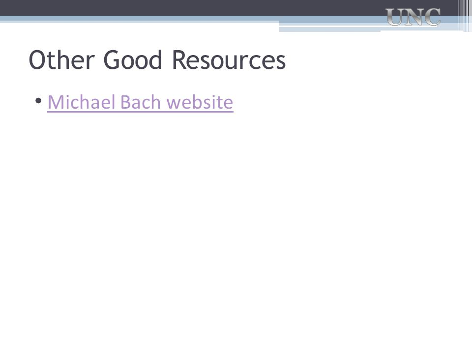 Other Good Resources Michael Bach website