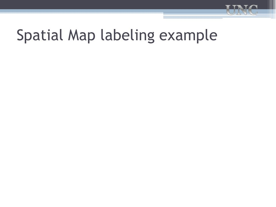 Spatial Map labeling example