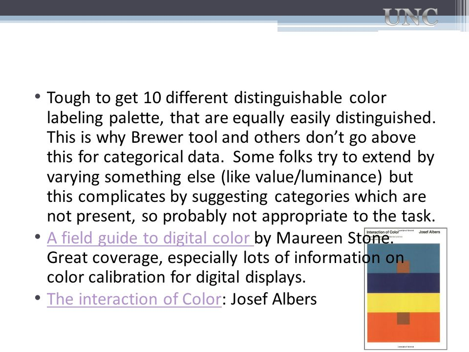 Tough to get 10 different distinguishable color labeling palette, that are equally easily distinguished. This is why Brewer tool and others don't go a