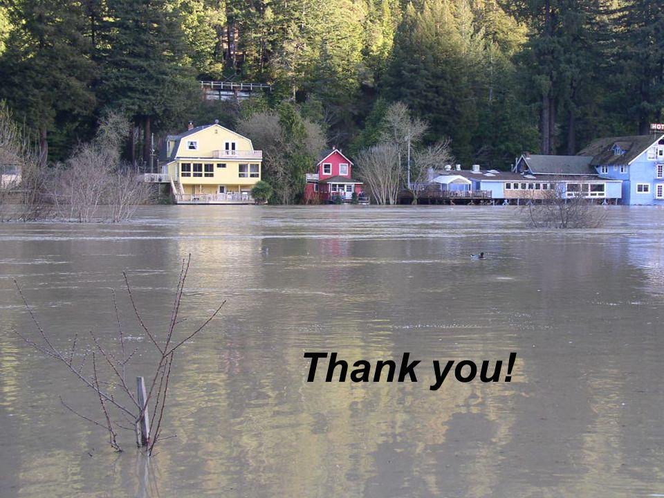 Russian River Flooding – Monte Rio, CA Thank you!